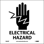 Electrical Hazard (Graphic), 4X4, Adhesive Vinyl, Labels sold in 5/Pk