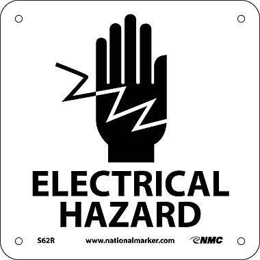Electrical Hazard (W/ Graphic), 7X7, Rigid Plastic