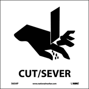 Cut/Sever (Graphic), 4X4, Adhesive Vinyl, Labels sold in 5/Pk