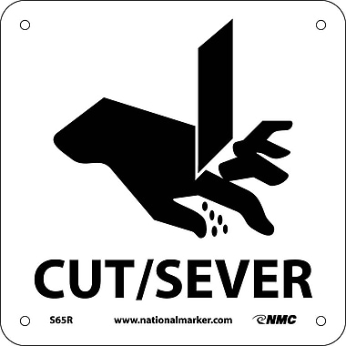 Cut/Sever (W/ Graphic), 7X7, Rigid Plastic