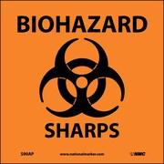 Biohazard Sharps (Graphic), 4X4, Adhesive Vinyl, Labels sold in 5/Pk