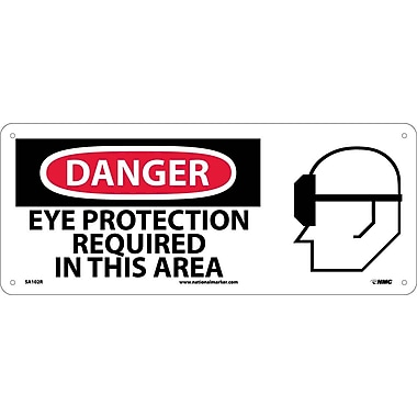 Danger, Eye Protection Required In This Area with Graphic, 7