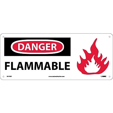 Danger, Flammable (W/Graphic), 7X17, Rigid Plastic