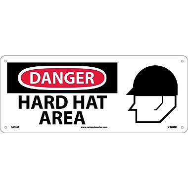 Danger, Hard Hat Area with Graphic, 7