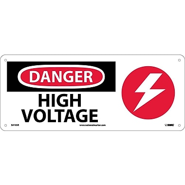 Danger, High Voltage (W/Graphic), 7X17, Rigid Plastic
