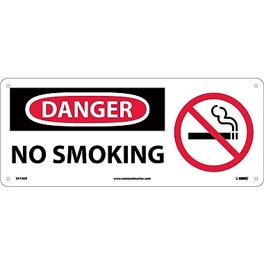 Danger, No Smoking with Graphic, 7