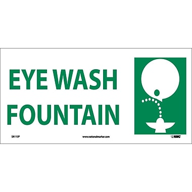 Eye Wash Fountain (W/ Graphic), 7X17, Adhesive Vinyl