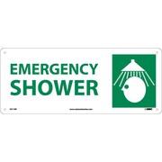 Emergency Shower (W/Graphic), 7X17, Rigid Plastic