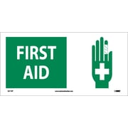 First Aid (W/ Graphic), 7X17, Adhesive Vinyl