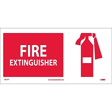 Fire Extinguisher (W/ Graphic), 7X17, Adhesive Vinyl