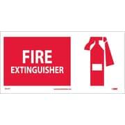 Fire Extinguisher (W/ Graphic), 7X17, Adhesive Vinyl