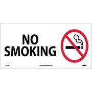 No Smoking (W/ Graphic), 7X17, Adhesive Vinyl