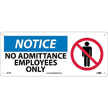 Notice, No Admittance Employees Only with Graphic, 7