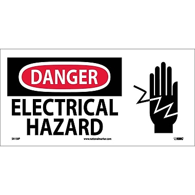 Danger, Electrical Hazard (W/ Graphic), 7X17, Adhesive Vinyl