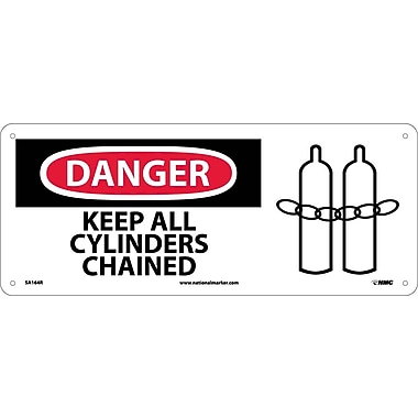 Danger, Keep All Cylinder Chained with Graphic, 7