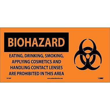 Biohazard, Eating Drinking Smoking Applying Cosmetics.. (W/ Graphic), 7X17, Adhesive Vinyl