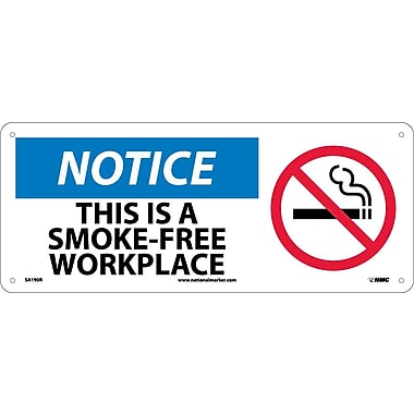 Notice, This Is A Smoke-Free Workplace with Graphic, 7