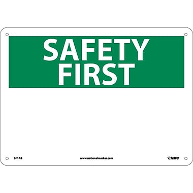 Safety First, (Heading Only), 10X14, .040 Aluminum