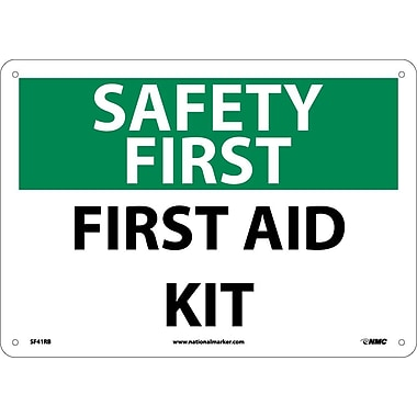 Safety First, First Aid Kit, 10X14, Rigid Plastic