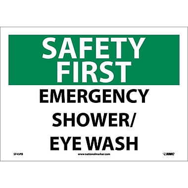 Safety First, Emergency Shower/Eye Wash, 10X14, Adhesive Vinyl