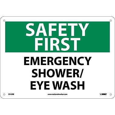 Safety First, Emergency Shower/Eye Wash, 10X14, Rigid Plastic