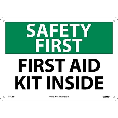 Safety First, First Aid Kit Inside, 10X14, Rigid Plastic