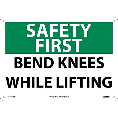 Safety First, Bend Knees While Lifting, 10