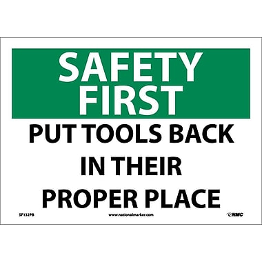 Safety First, Put Tools Back In Their Proper Place, 10