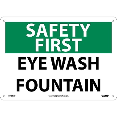 Safety First, Eye Wash Fountain, 10X14, .040 Aluminum