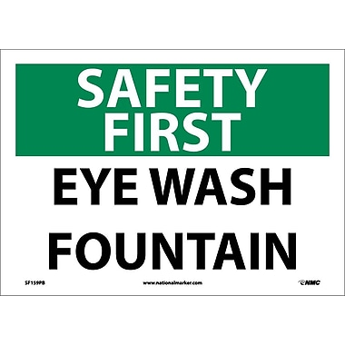 Safety First, Eye Wash Fountain, 10X14, Adhesive Vinyl