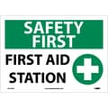Safety First, First Aid Station, Graphic, 10X14, Adhesive Vinyl