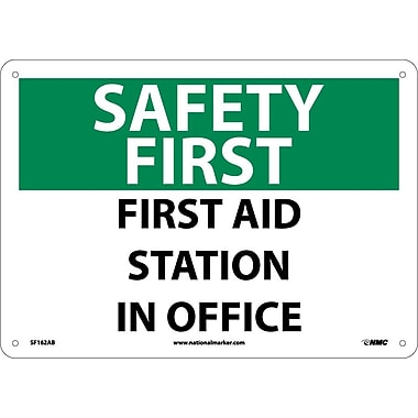 Safety First, First Aid Station In Office, 10X14, .040 Aluminum