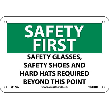Safety First, Safety Glasses, Safety Shoes And Hard Hats Required, 7