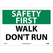 Safety First, Walk Don't Run, 10X14, Adhesive Vinyl