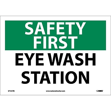 Safety First, Eye Wash Station, 10X14, Adhesive Vinyl