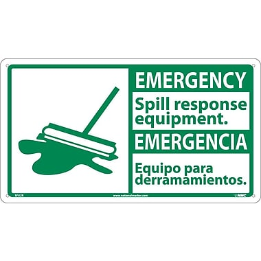 Safety First, 10 X 18 Emergency Spill Response Equip- (Bilingual W/Graphic), 10X18, Rigid Plastic