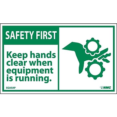 Safety First, Keep Hands Clear When Equipment Is Running, 3