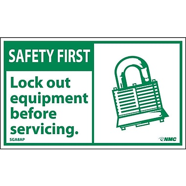 Safety First, Lockout Equipment Before Servicing, 3