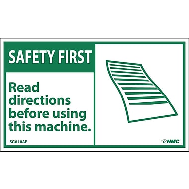 Safety First, Read Directions Before Using This Machine, 3