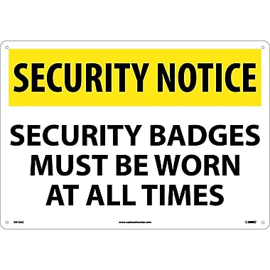 Security Notice, Security Badges Must Be Worn At All Times, 14
