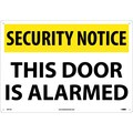 Security Notice, This Door Is Alarmed, 14X20, .040 Aluminum