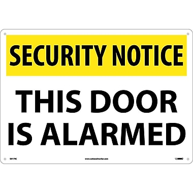 Security Notice, This Door Is Alarmed, 14