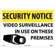 Security Notice, Video Surveillance In Use On These Premises, 14X20, Rigid Plastic