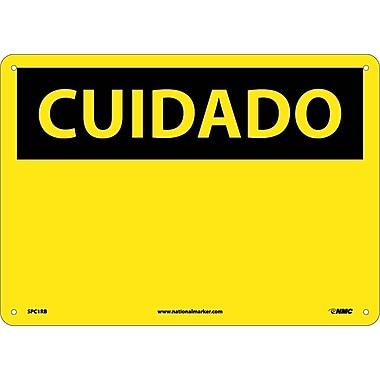 Cuidado, (Blank), (Spanish), 10X14, Rigid Plastic