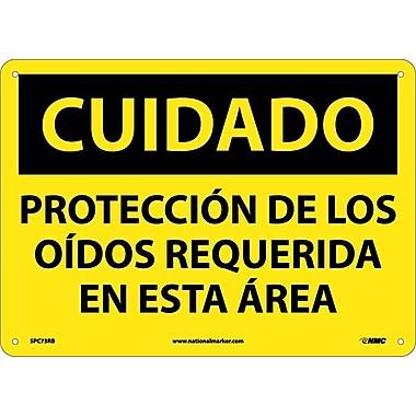 Cuidado, Proteccion De Los Oidos Requerida En Esta Area, 10X14, Rigid Plastic