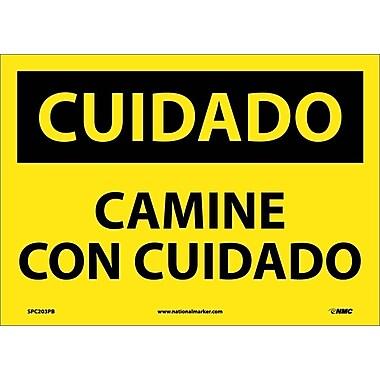 Cuidado, Camine Con Cuidado, 10X14, Adhesive Vinyl