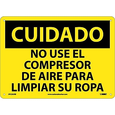 Cuidado, No Use El Compresor De Aire Para Limpiar Su Ropa, 10X14, Rigid Plastic