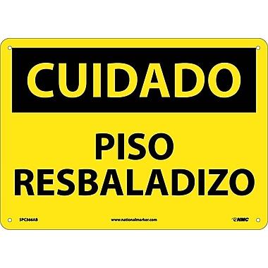 Cuidado, Piso Resbaladizo, 10X14, .040 Aluminum