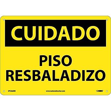 Cuidado, Piso Resbaladizo, 10X14, Rigid Plastic