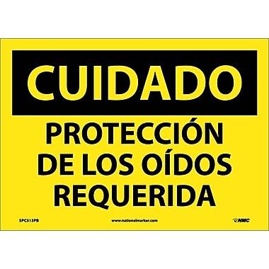 Cuidado, Proteccion De Los Oidos Requerida, 10X14, Adhesive Vinyl